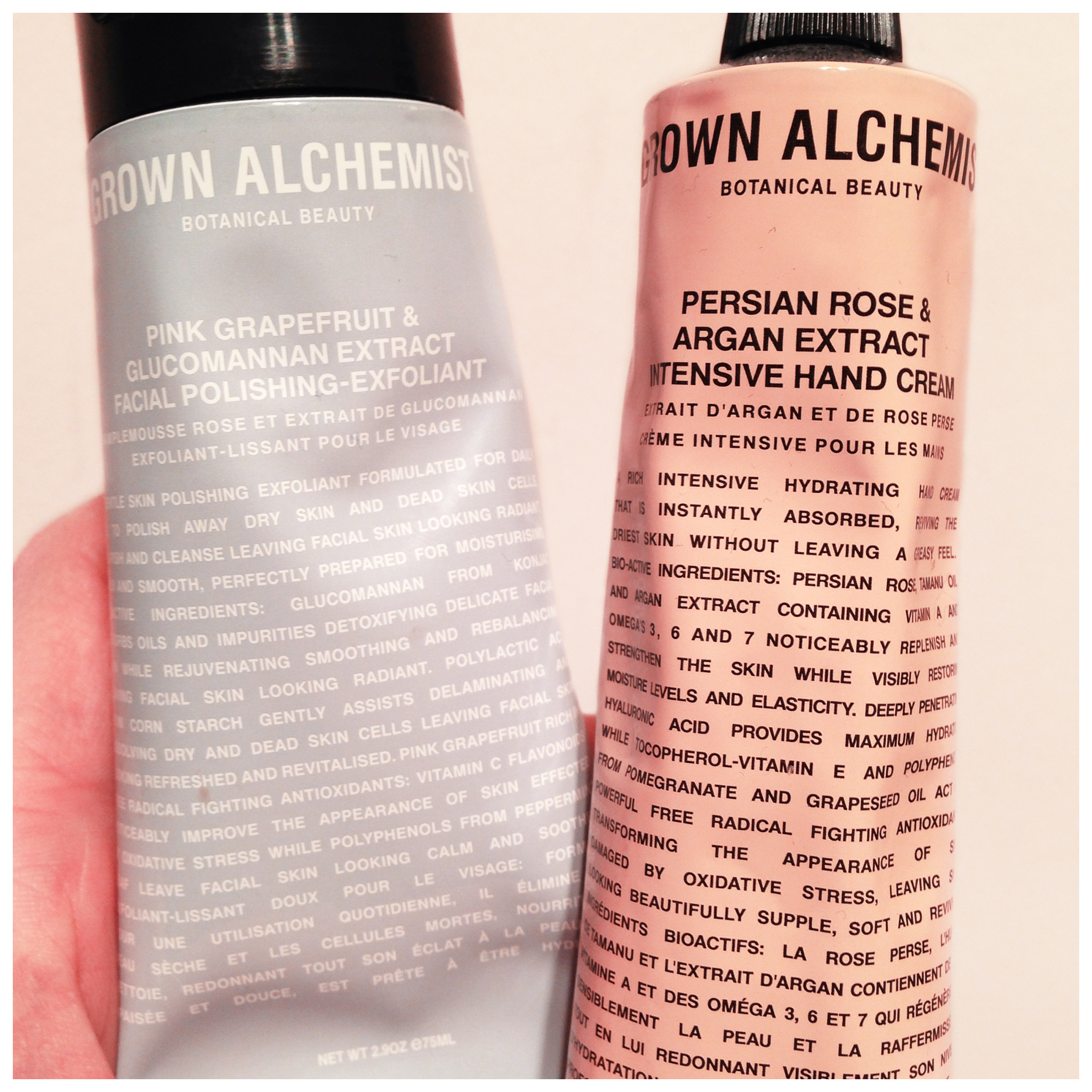 grown alchemist mjg beauty my two saviours in the grown alchemist range are the polishing facial exfoliant and the intensive hand cream the exfoliant is my skin s dream come true