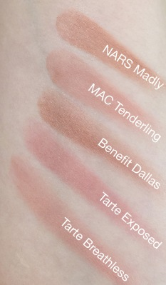 Nude Blush swatches with names